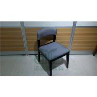 现代风格的甜品店餐椅 连锁餐厅软包餐椅 快餐厅五金餐椅 可订做