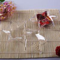 厂家生产批发 六角星形塑料盒SIZE:105*105*42MM带吊孔