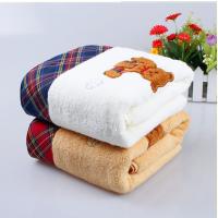 厂家批发纯棉足球小熊浴巾纯棉礼品浴巾劳保福利毛巾