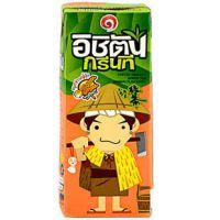 泰国进口饮料 一集团日式大麦玄米味绿茶250mlX36盒/箱 批发