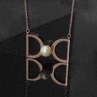 钛钢饰品批发来自星星的你同款项链全智贤同款蝴蝶结珍珠项链大号