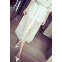 小银子2015夏装新款韩国范性感蕾丝假两件半身裙裤K4338