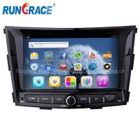 8'' in dash android car dvd player system tv/radio tuner/mirror link navigation for ssangyong TIVOLAN