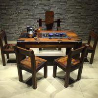 供应全实木茶几 简约现代中式功夫茶台 客厅创意大茶桌 方形小户型多功能茶几桌