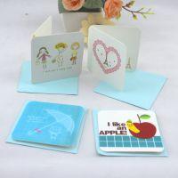 韩版创意带信封祝福贺卡感恩教师明信片留言贺卡定制 淘宝小卡片