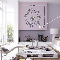 佰创汇创意DIY挂钟 创意数字挂钟 艺术钟表数字挂钟趣味时钟批发