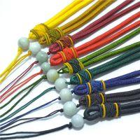 A珠翡翠手把件挂件玉绳纯手工编织 现货供应挂件四会批发505