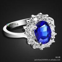 戒指批发 威廉王子婚戒 戴安娜王妃戒指 凯特王妃结婚戒指