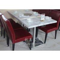 宝安白色大理石餐桌 茶餐厅人造石火锅桌 方形桌石英石桌子