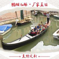 山东木船厂家直销6米贡多拉游船景区观光游览客船