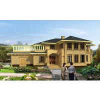 优雅大气宫殿式豪华别墅设计图(含效果图)25.6x15.1米