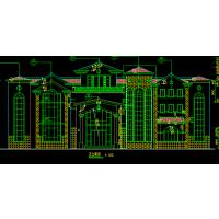 [浙江]3层325平西班牙风格联排别墅建筑设计施工图
