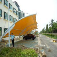 厂家专业承接户外张拉膜结构车棚 景观膜工程设计安装