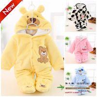 婴儿装连身衣哈衣婴儿服装婴儿体衣秋冬爬服新生儿纯色棉连体童装