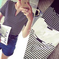 小银子2015夏装新款V领亲肤莫代尔棉T恤女短袖纯色厂家直销BB