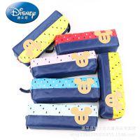 迪士尼正品男女中小学生文具盒可爱卡通文具袋铅笔袋儿童帆布笔袋