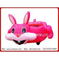 儿童游乐充气电瓶车 可爱兔子彩灯充气气模车 厂价销售广场娱乐车