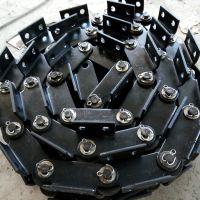 乾德机械供应大节距100mm传送金属链条 重载传动用弯板滚子链条