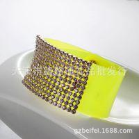vintage 水晶饰品批发欧美外贸出口首饰 pvc透明皮手镯 手链