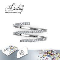 戴思妮 精美水晶戒指 采用施华洛世奇元素 女士饰品 厂家直销
