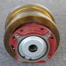 欧式驱动配件φ200双边主动轮,球墨铸铁QT700,赛奥威,配用宽度≤70mm道轨,天车轮球铁轴承座