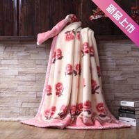 婚庆冬季双人拉舍尔双层加厚毛毯 超柔尊贵毯子批发 厂家直销