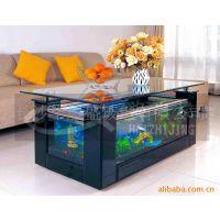 *全玻璃制造*海之境长方茶几生态鱼缸