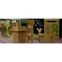 展会道具设计制作 环保展会展览设计 瓦楞纸板展示用品