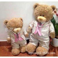 加工订做穿衣服泰迪熊 正装领带熊 西装熊定做企业礼品公司形象