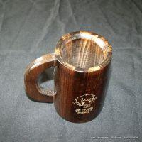 【厂家直销】木质水杯  创意家居摆件 木质手把防烫 创意木被子