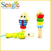 卡通动物小口哨 木质木制早教益智 力 1-2-3-4岁儿童宝宝幼儿玩具