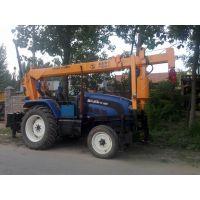 拖拉机改装电线杆挖坑,拖拉机随车吊 优质价格 厂家直销