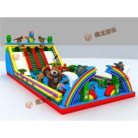 沙滩上放个充气城堡生意会不会好?大型户外儿童游乐设备郑州生产厂家