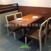 深圳厂家直销 四人位连锁店分体快餐桌 餐厅餐桌椅组合