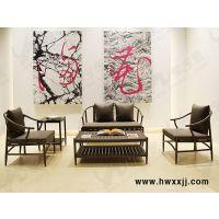 新中式休闲沙发、现代中式桌椅、新中式家具领导品牌馨宁居