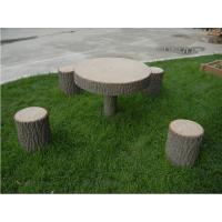 批发各种仿树皮桌椅、仿木桌凳