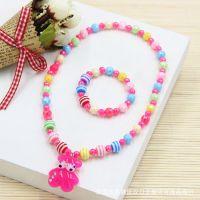 儿童饰品批发 新款珍珠首饰套装 项链手链两件套 多款可选