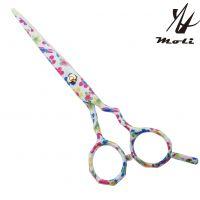 MOLI精品美发剪刀 正品个性彩色花纹理发剪刀 专业高档美发剪刀