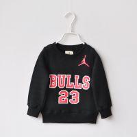 外贸原单男童篮球公牛队抓绒T恤 1224