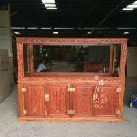 定做水族箱超白鱼缸地柜创意龙鱼缸 水族箱置物架