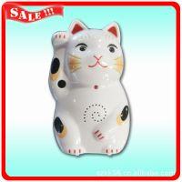 厂家供应106招财猫迎宾器 光控感应迎宾器 红外人体感应迎宾门铃