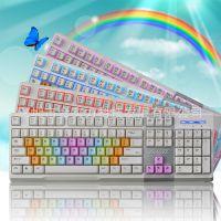 黑爵ak10英魂之刃彩虹背光游戏键盘茶轴机械手感键盘电竞小苍lol
