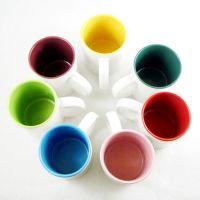 广州涂层杯工厂直销内彩热转印杯子 白胎杯批发定制 出口品质
