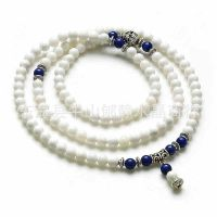 天然白砗磲手链 配青金石 108珠佛珠手链 时尚女款 热卖手链