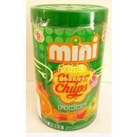 泰国进口 迷你珍宝珠棒棒糖50支装(绿)300gX12罐/箱 批发