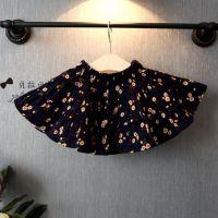2015韩国童装春季新款女童碎花百褶半身裙儿童短裙小菊花0.91