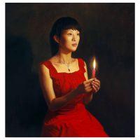 供应濮阳鹤壁安阳 照片处理转油画 肖像全家福 风景油画定制 LD008