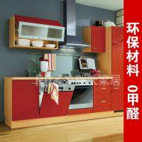厂家直销实木橱柜定做 环保健康 简约款现代整体厨房配套壁橱厨柜