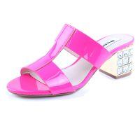 2015新款春夏正品外贸女鞋高跟粗跟鱼嘴凉鞋真皮罗马水钻女凉拖鞋