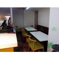 人造大理石快餐桌 方形快餐桌 长方形桌 欢迎各类餐饮店合作